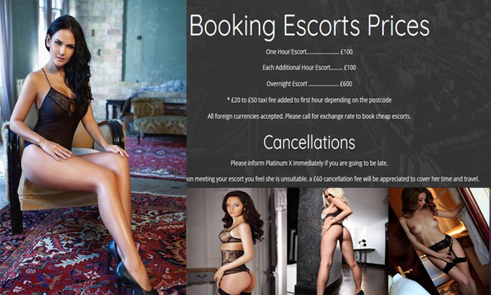 Book sexy English female escorts for outcalls at £100 an Hour